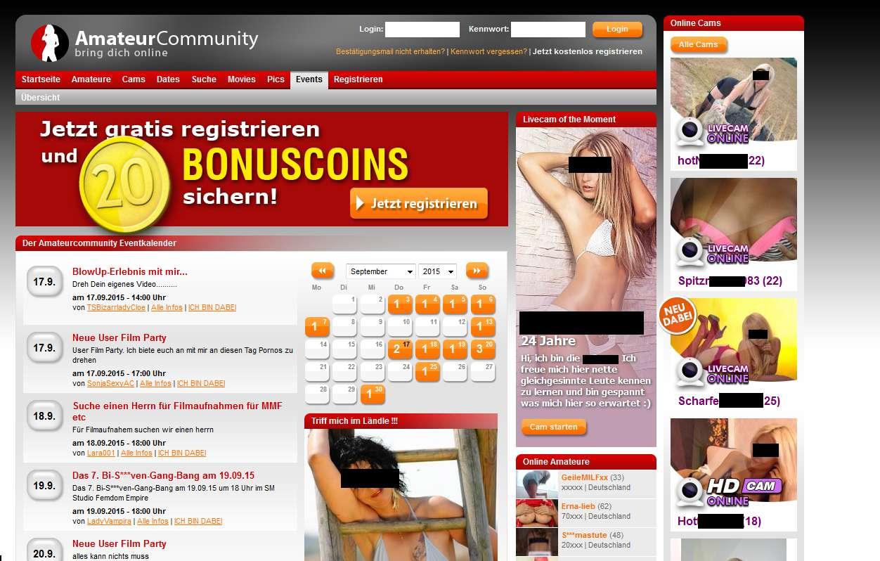 Amateurcommunity.com seriös? Erfahrungen & Test lesen!