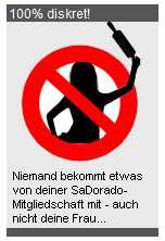 Niemand bekommt etwas von deiner Sadorado Mitgliedschaft mit-Schild