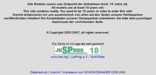 Schokoshaker-Models-über-18