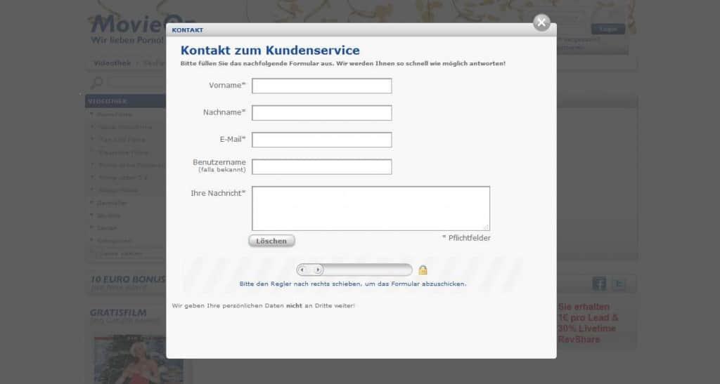 Movieon.com Kontakt Kundenservice