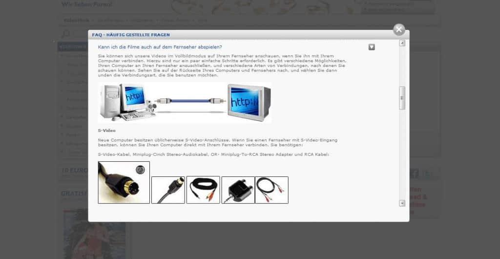 Movieon.com Technischer Aspekt