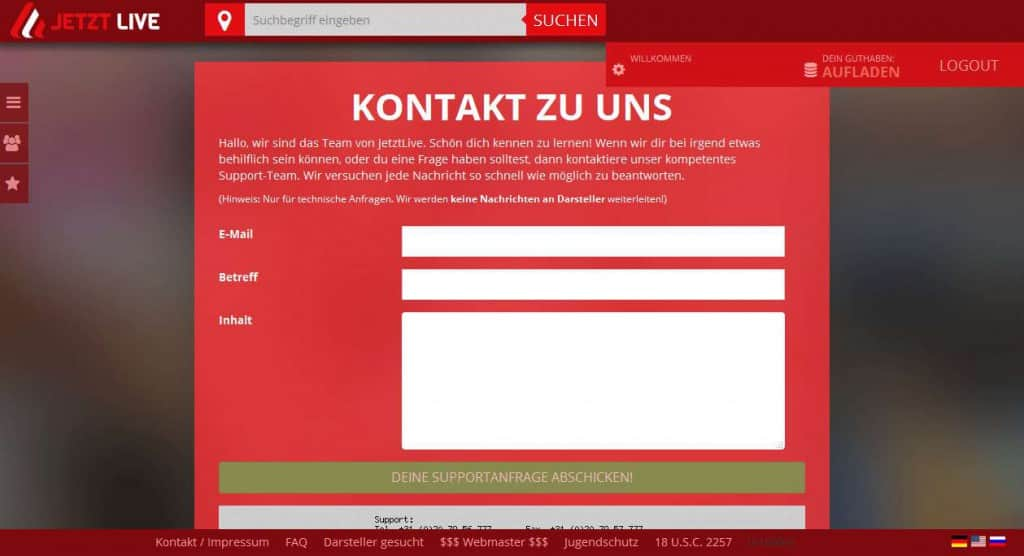 jetztlive.com Support