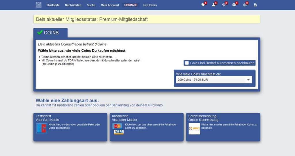 date4sex.com Preise+Zahlungsmethoden