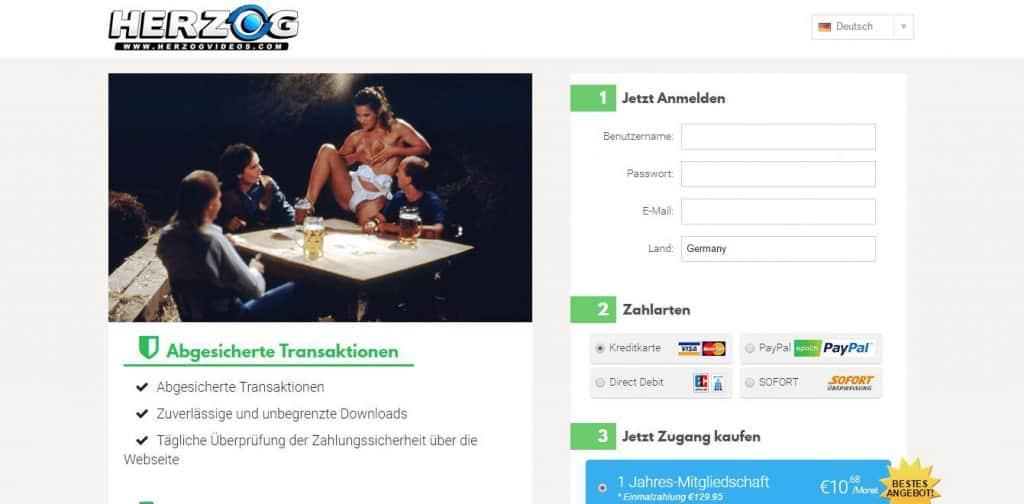 Herzogvideos.com Kostenlose Anmeldung