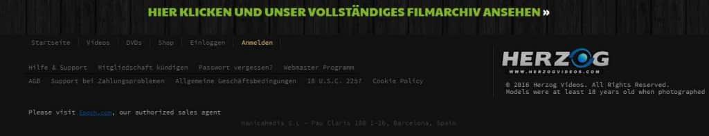 Herzogvideos.com Navigation Sicherheit