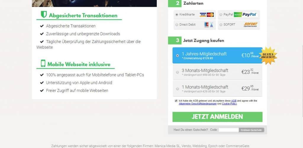 Herzogvideos.com Preise und Zahlungsarten