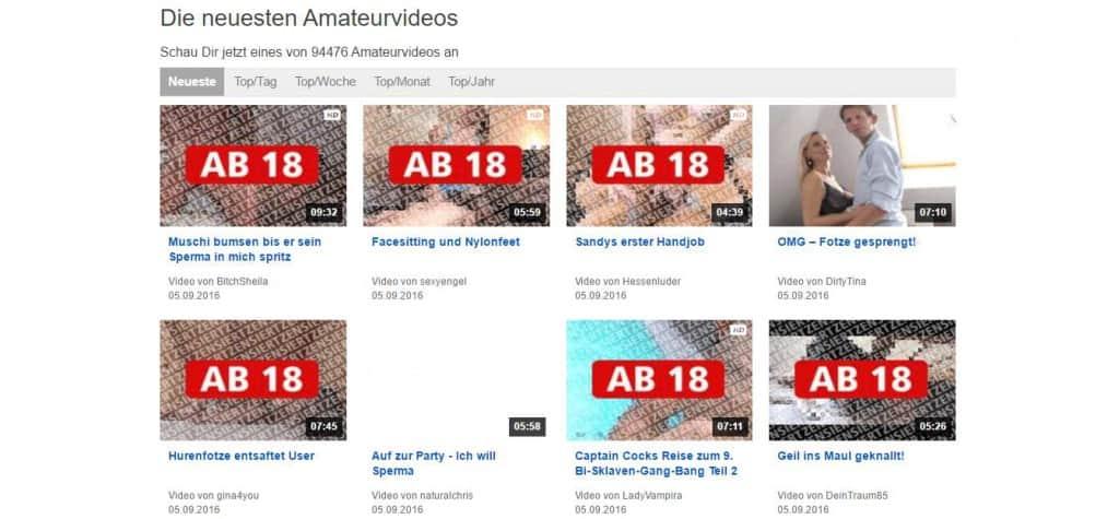 amateurseite.com Die neuesten Amateurvideos