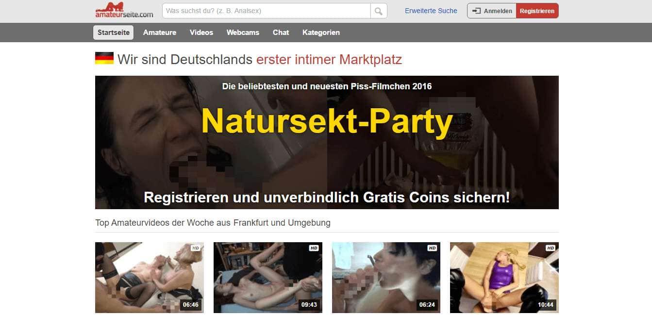 amateurseite.com Startseite