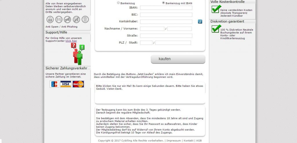 nylonschlampen-com Zahlungsmethoden