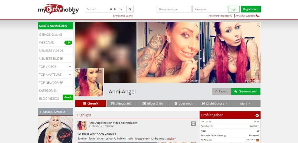 Anni-Angel mydirtyhobby-de Profil