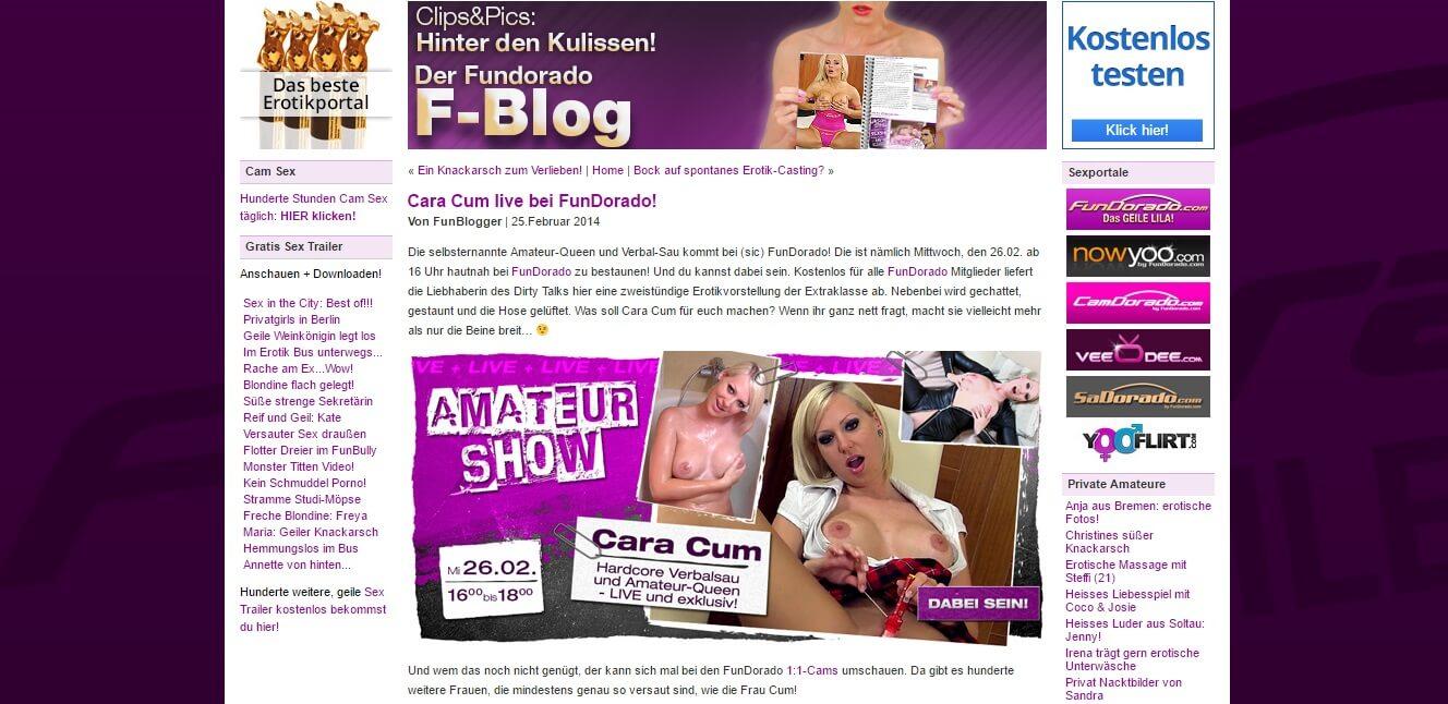 CaraCum Fundorado.de – kostenlose Pornofilme, Videos & Erfahrungen