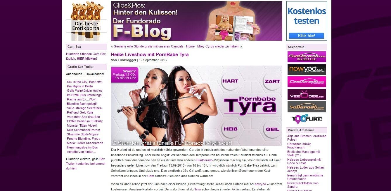 Pornbabe TYRA Fundorado.de – kostenlose Pornofilme, Videos & Erfahrungen