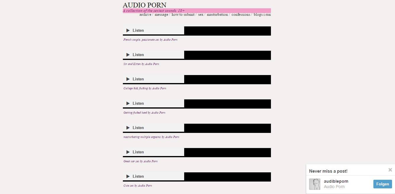 Audibleporn.tumblr.com seriös? Erfahrungen & Test lesen!