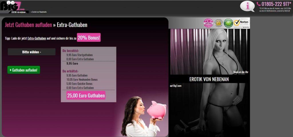 big7-com Guthaben aufladen