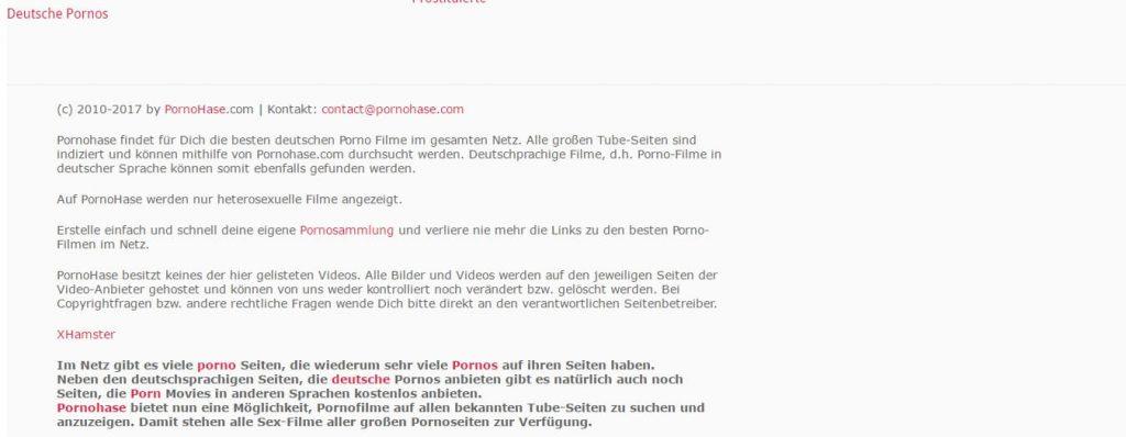 pornohase-com Fusszeilen
