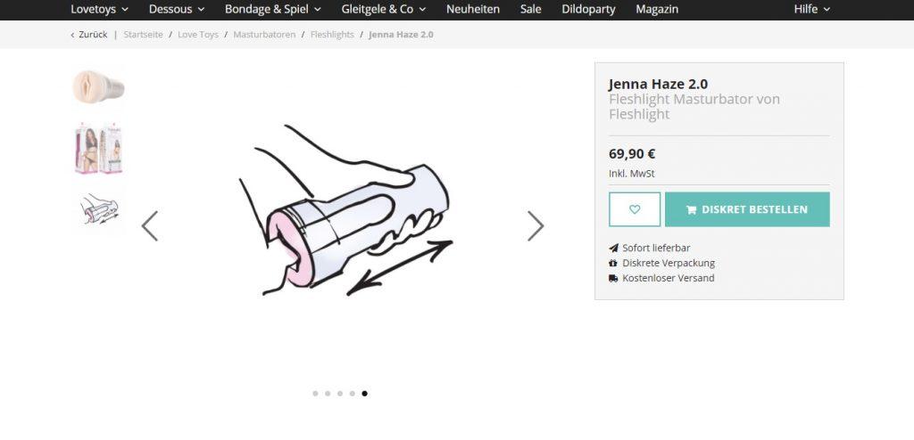 amorelie-de flashlight jenna haze Anwendung