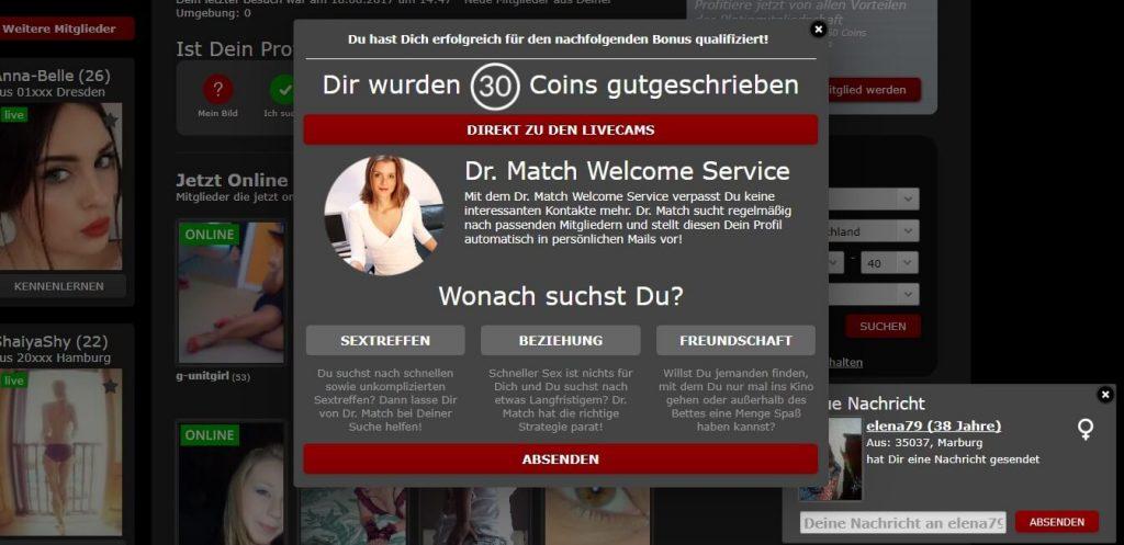 dates18-com Gutschrift von Coins